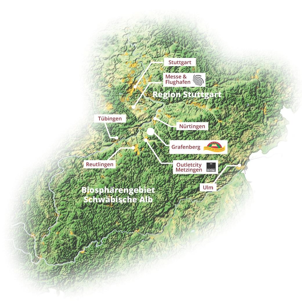 Schwäbische Alb Karte Städte.5 Sterne Am Grafenberg Ute Und Thomas Müller Umgebung